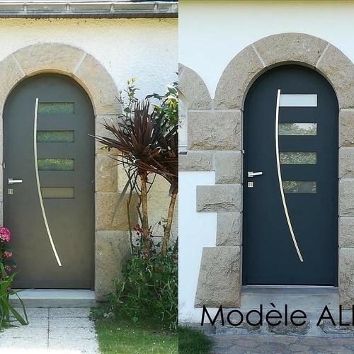 Porte d''entrée cintrée - Modèle Alizée