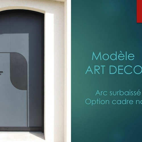 Porte d''entrée - Modèle Art Déco