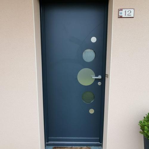 Porte d''entrée modèle bulle - Trélivan - 22