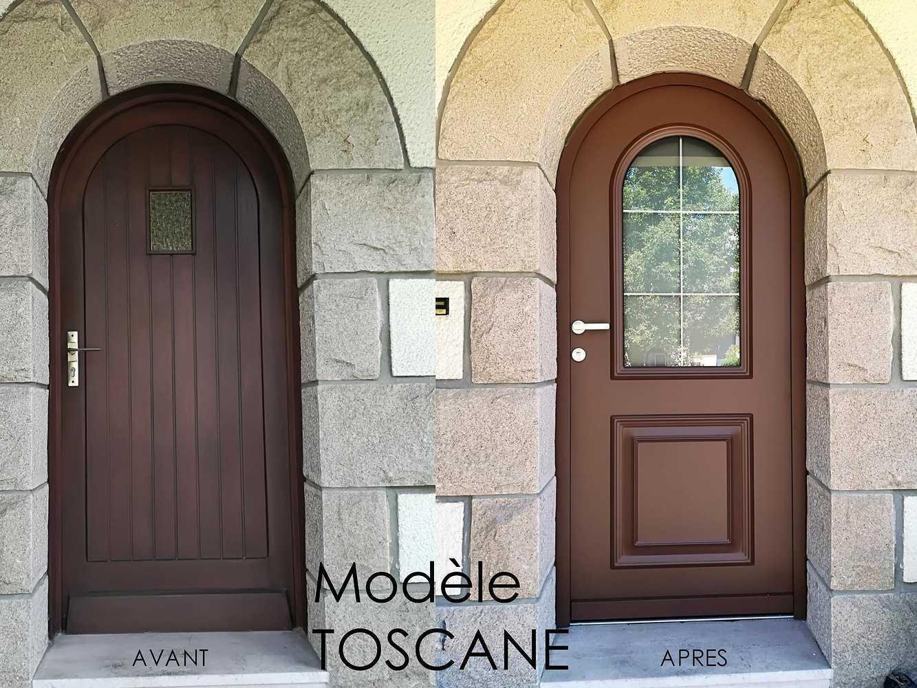 Pose d''une porte d''entrée - Modèle Toscane 0